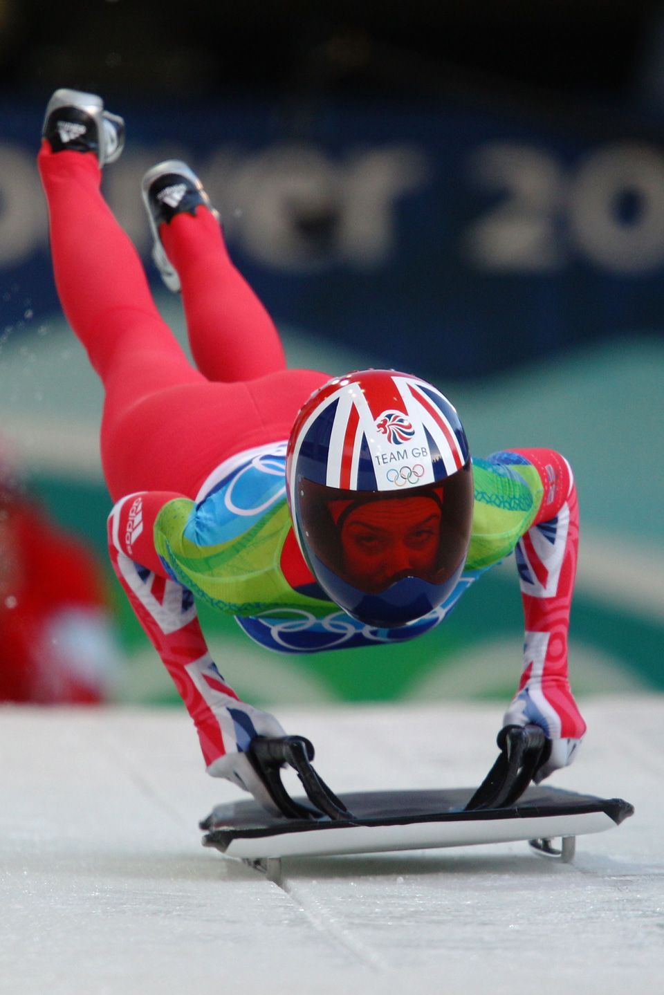 Amy Williams (GBR) during the women's skeleton Wonder