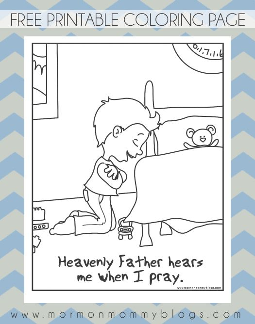 Elegant Lds Prayer Coloring Page 12 He Hears Me When