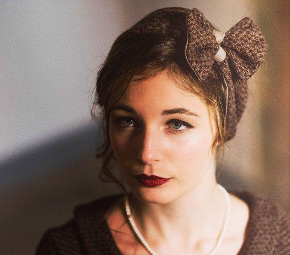 78a755ab96a65 SALDI 25% Fascia per capelli in lana retrò (prezzo intero 27.50€) 🌟 Le  fasce per capelli in stile anni  50 sono la tua passione ma annodare un  fiocco ...