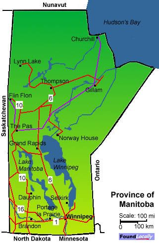 Map Of Manitoba MAPS The Americas Pinterest - Map of manitoba canada