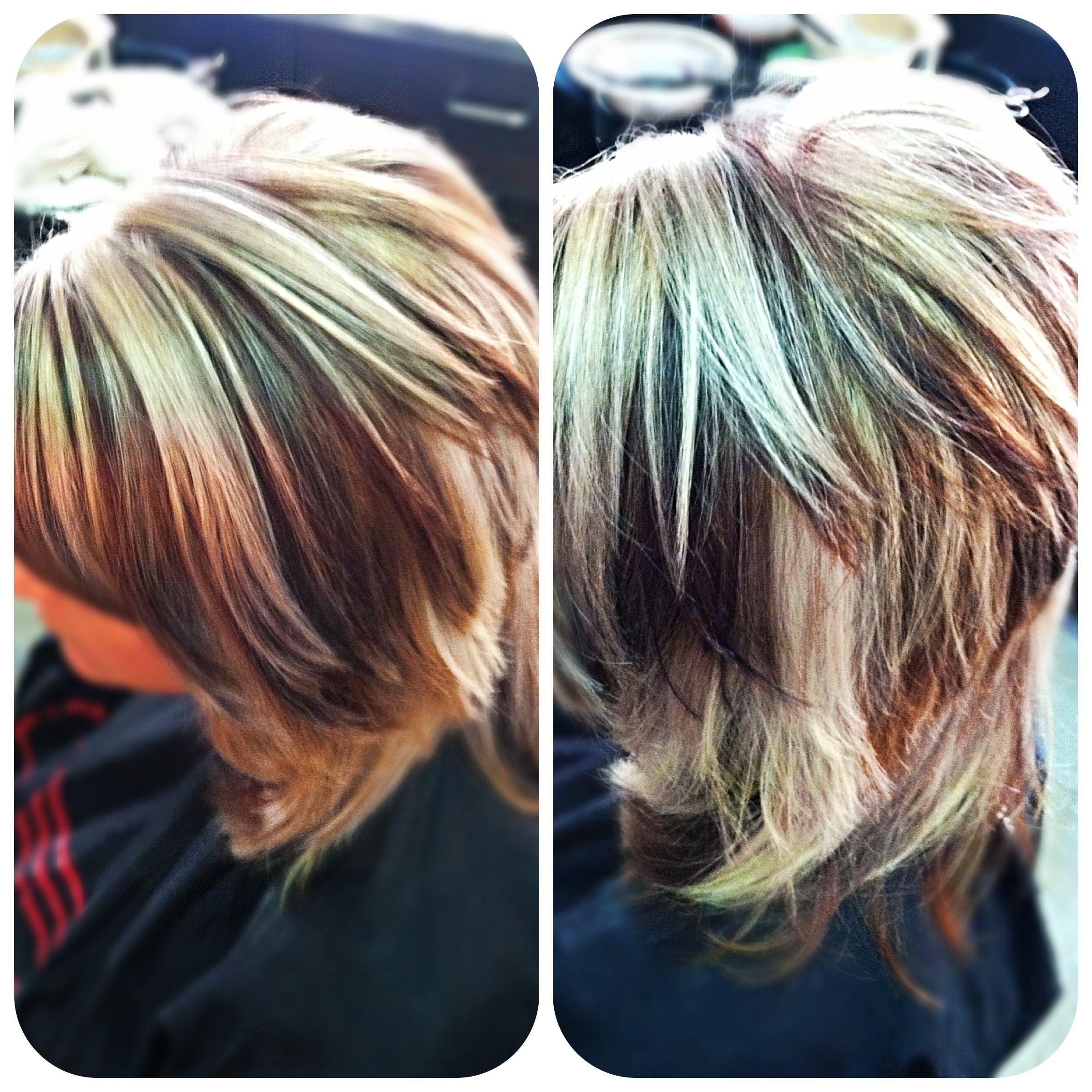 Blonde Highlights With Dark Mocha Brown Hair Color Hair