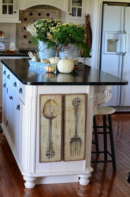 fall home tour and a 1 500 giveaway kitchen island decor fall kitchen decor kitchen decor on kitchen ideas decoration themes id=30161