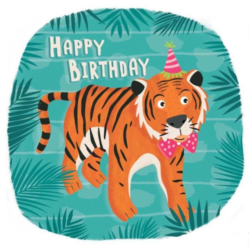 Childrens Tiger Birthday Card Birthday Shout Out Stash Pinterest