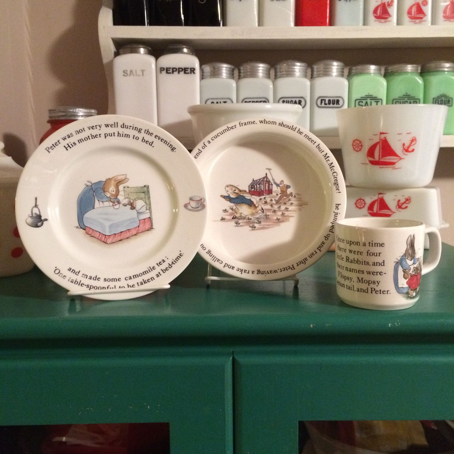 Wedgwood Peter Rabbit Childrens Dinnerware by ToughTownLovelies $10.00 & Wedgwood Peter Rabbit Childrens Dinnerware by ToughTownLovelies ...
