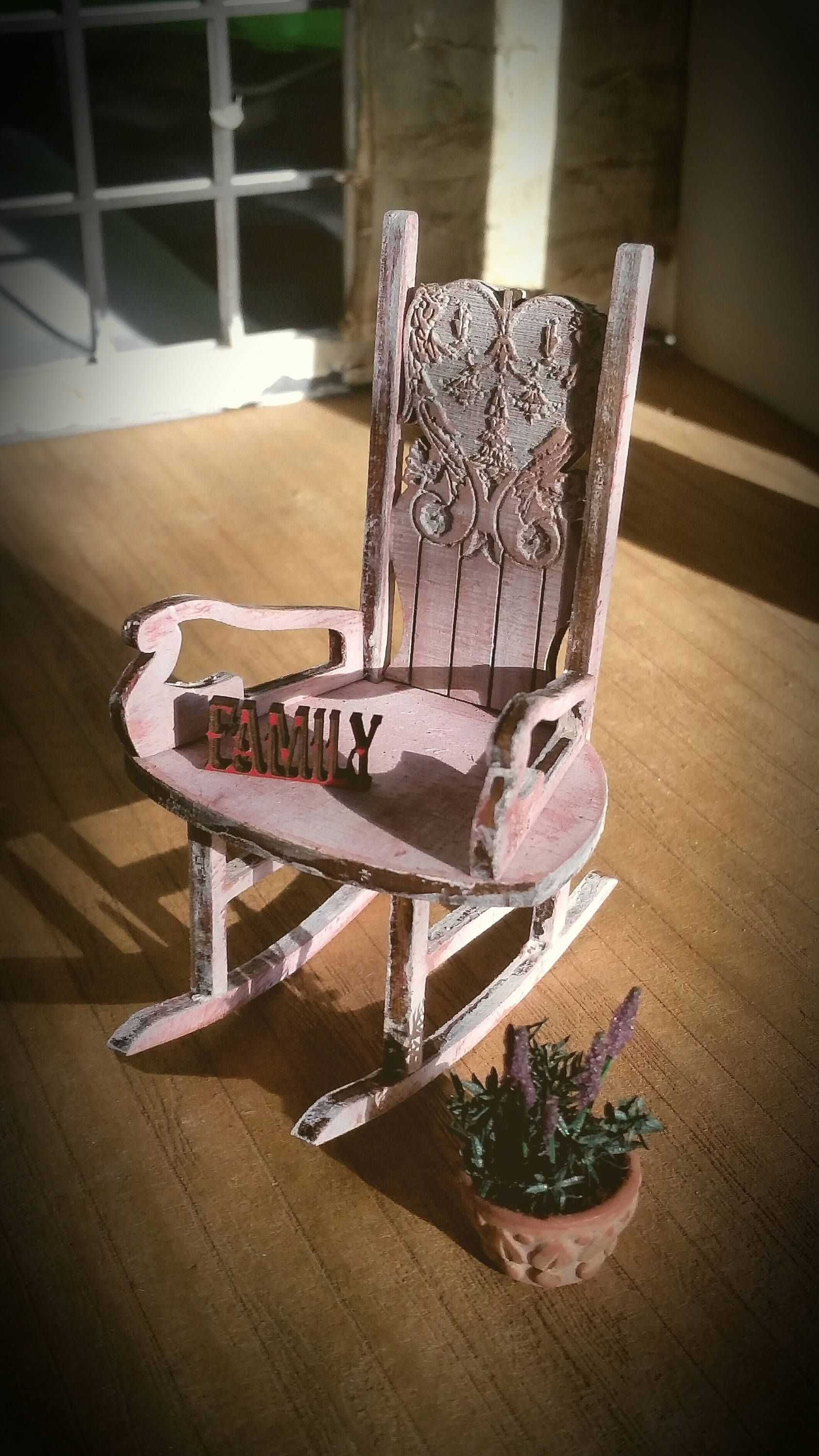Miniature Serenity Rocking chair in Chalky Dusty