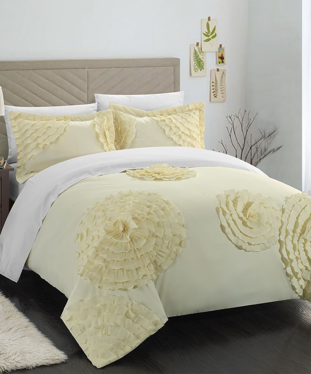 Beige Lauretta Duvet Cover Set