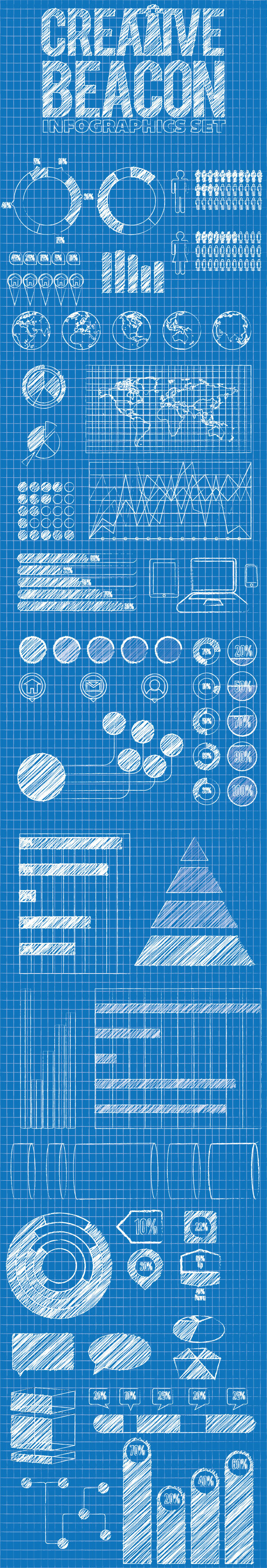 Free Blueprint Infographic Elements Template On Behance