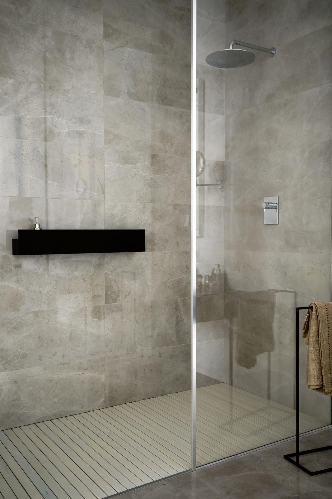 Badezimmer ideen schwarz und gold evolutionmarble rivestimento keramikfliesen marazzi  badideen