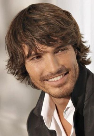 Medium Length Hairstyle For Men With Way Hair Good For The Boy