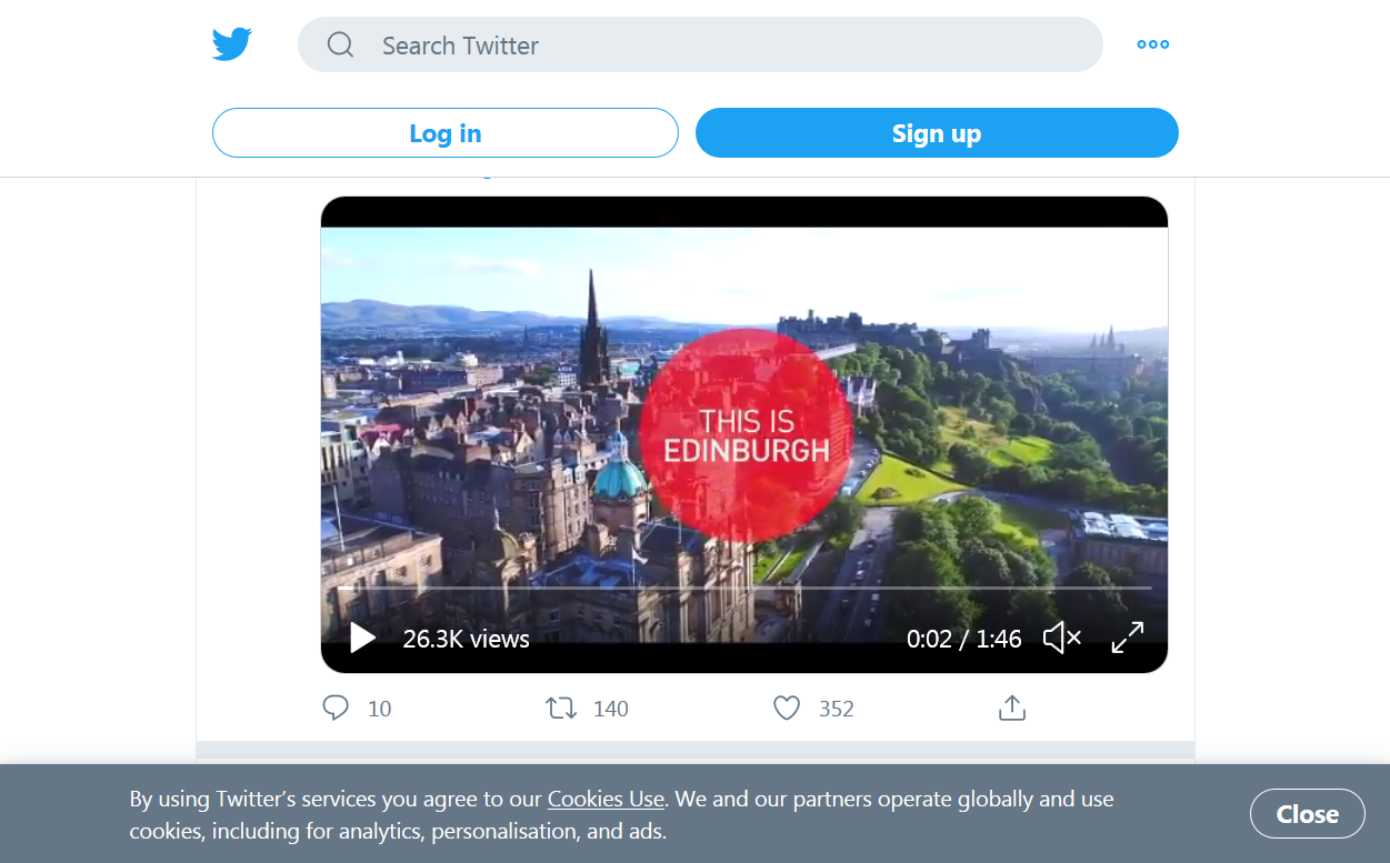 @edinburgh · Jul 12 This is inspiration. This is spectacular. This is adventure. This is freedom. This is exploration. This is discovery. This is where Scotland begins. #ThisIsEdinburgh.
