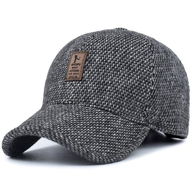 4f64afc611174 KHGDNOR Warm Thickened Baseball Cap With Ears for Men Cotton Hat Snapback  Hats Ear Flaps For Men Hats Winter Spring Autumn Hats