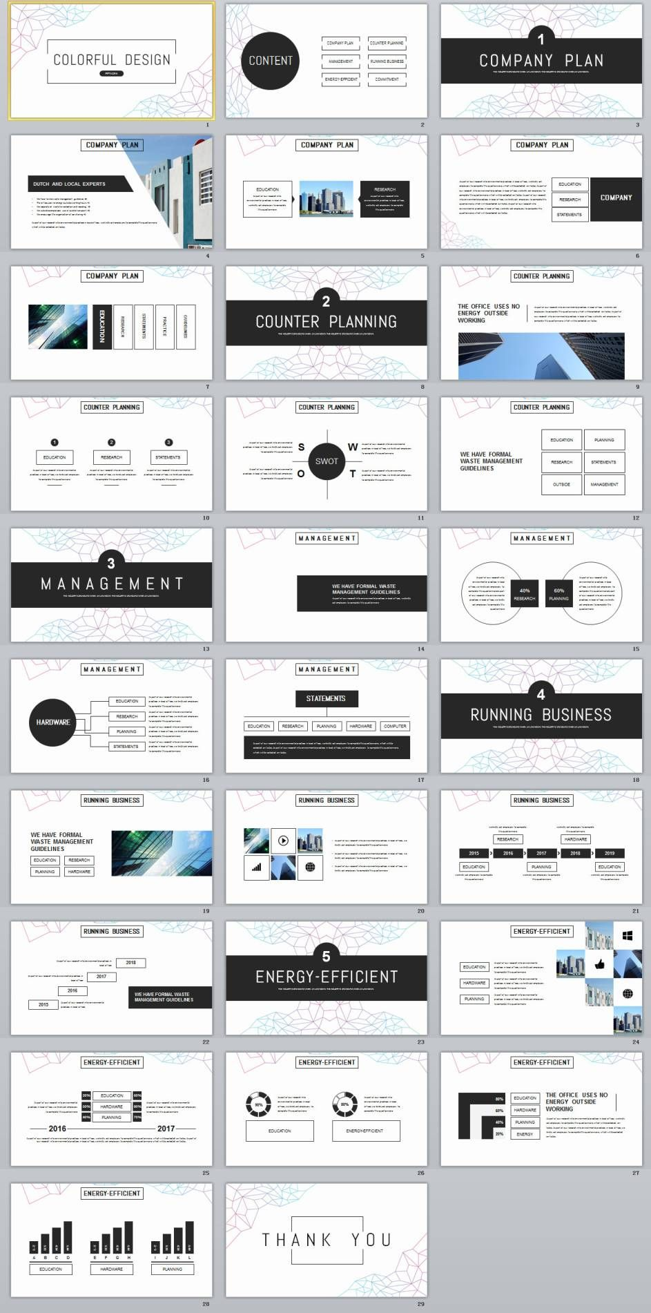 29 Black Annual Report Powerpoint Template Powerpoint Templates Presentation Design Creative Powerpoint Templates