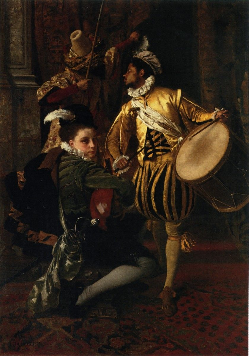 Musical Interlude by Gustave Jean Jacquet (French 1846 - 1909)