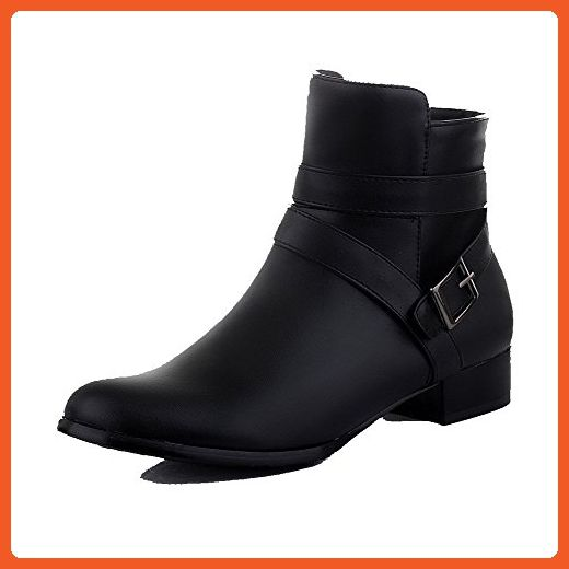 Women's Low Top Zipper Soft Material Low Heels Round Closed Toe Boots