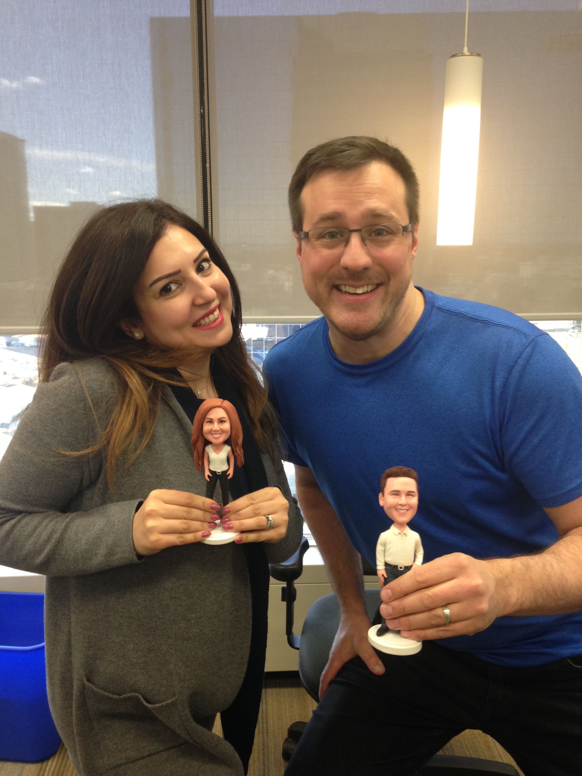 Winners of our Social Butte:Rfly contest Jeff Sieben and Sara Harb were rewarded with their very own bobbleheads.