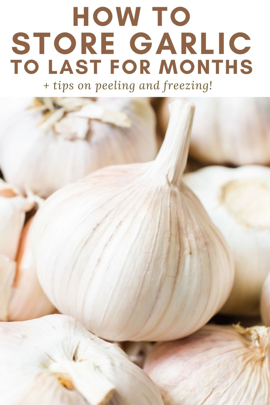 Here's the best ways on how to store garlic to make it