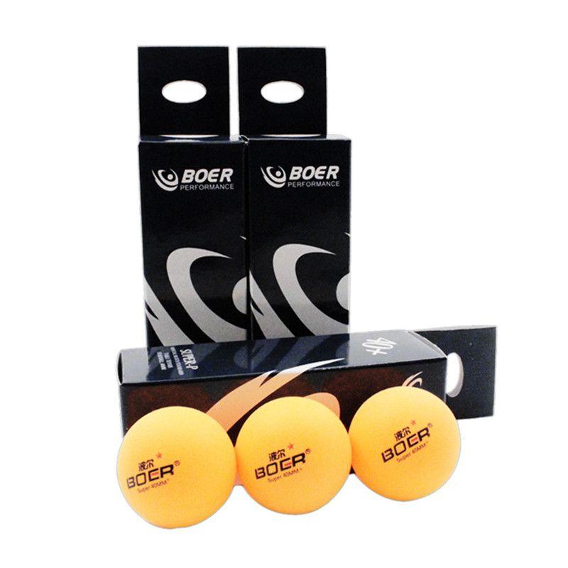 Boer Brand 3pcs Set Table Tennis Ball Set Professional Training With Retail Box Ping Pong Balls 40mm Nitrocel Table Tennis Rubber Table Tennis Racquet Sports