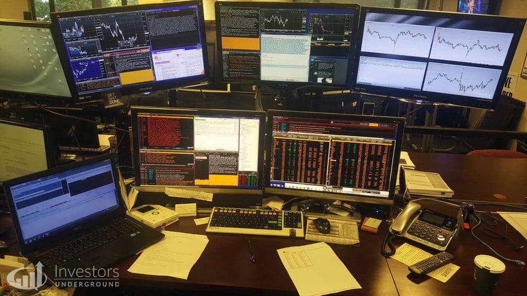 Trading Desks and Monitors from 24 Top Traders Trading