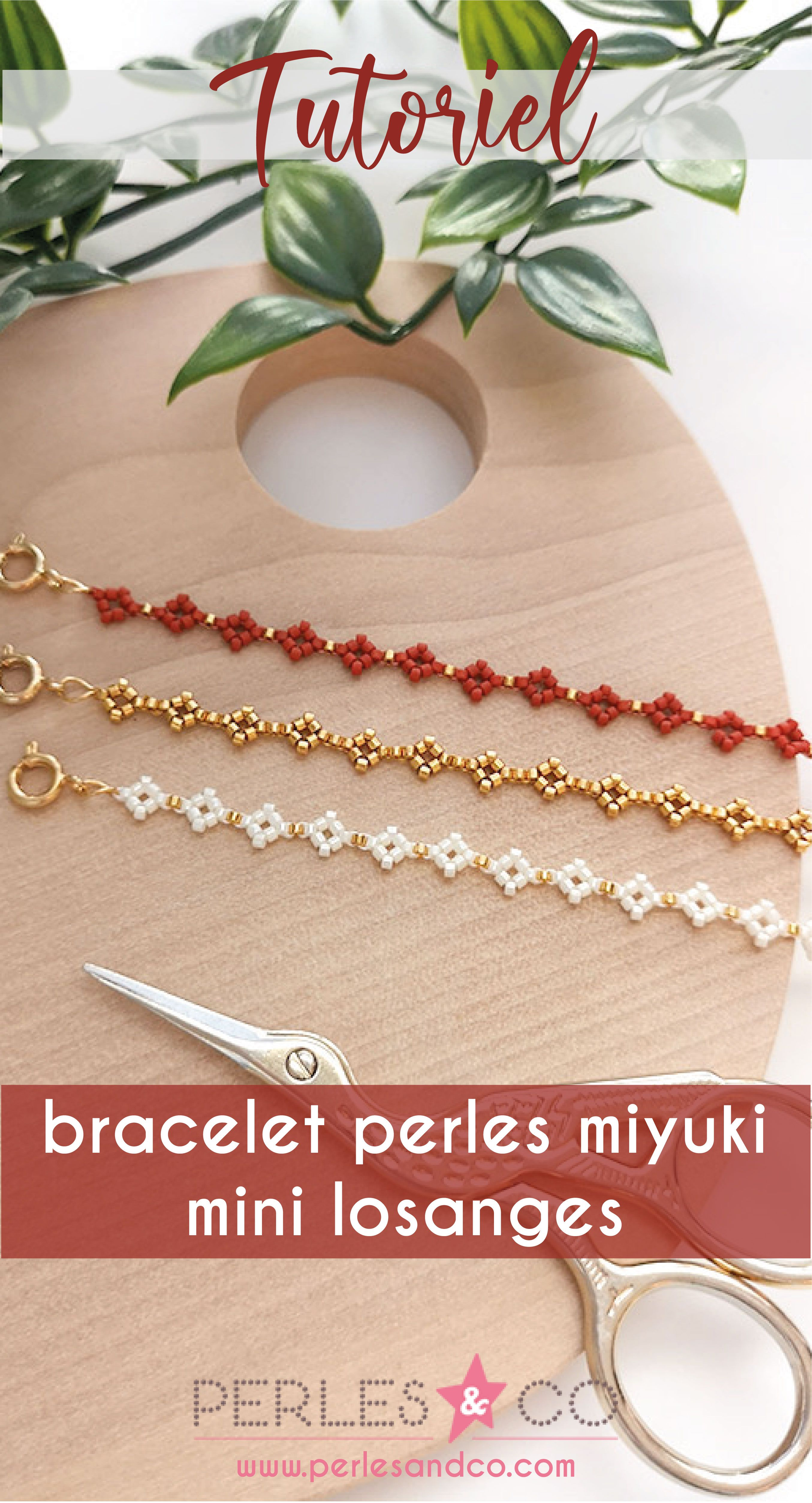 Photo of Bracelets en perles miyuki mini losanges ou marguerites