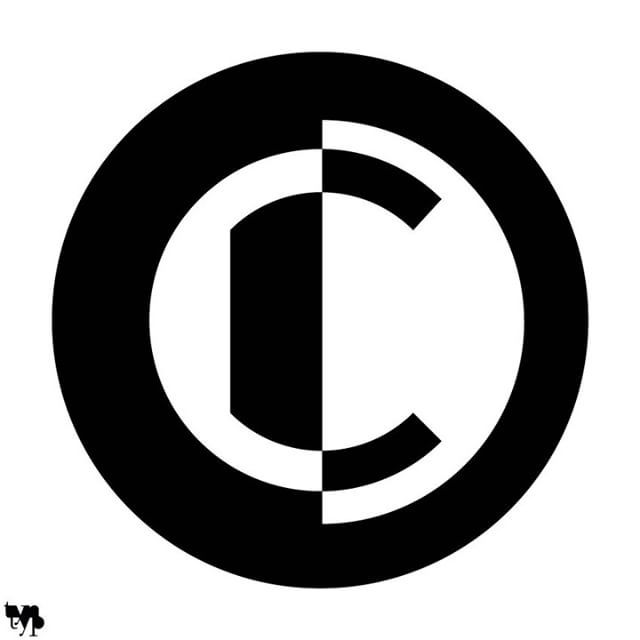 Copyright C My Take On A Copyright Symbol Utilising Negative Space