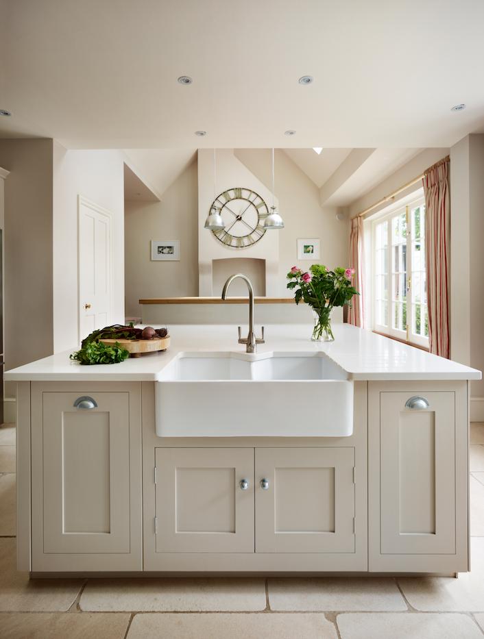 Harvey Jones Shaker Kitchen Painted In Little Greene Paint Co. U0027Slaked Limeu0027