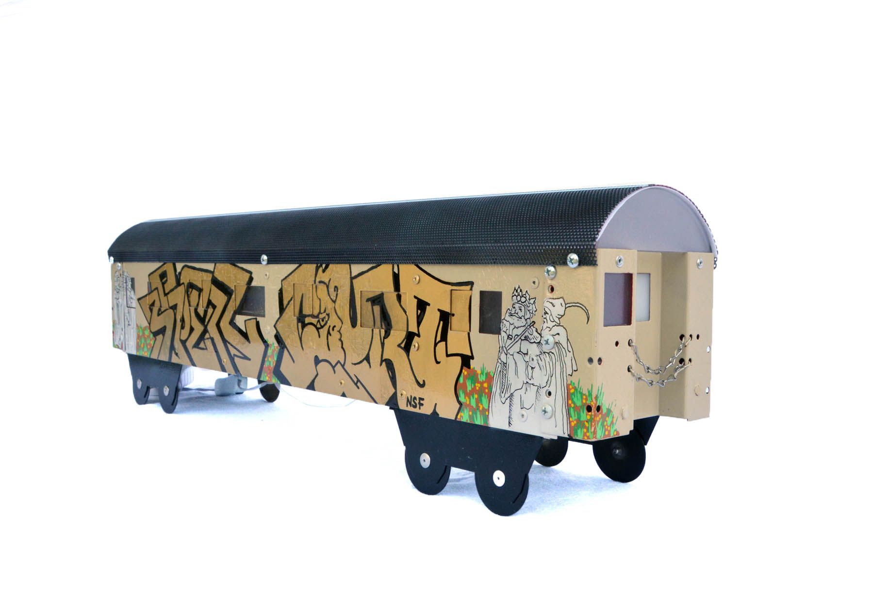 Graffiti train artisan subway series light fixture smash graffiti train artisan subway series light fixture arubaitofo Image collections