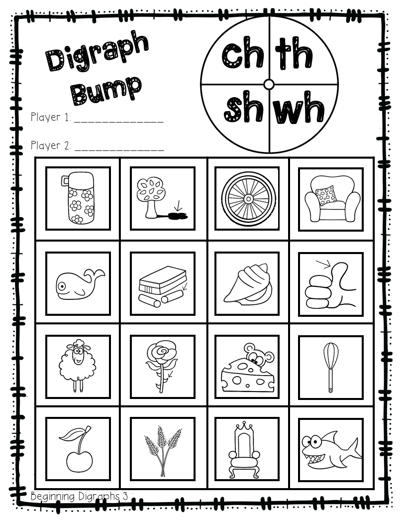 digraph fun sh ch th ph wh 12 game boards 6 tic tac toe boards 6 digraph bump initial and. Black Bedroom Furniture Sets. Home Design Ideas