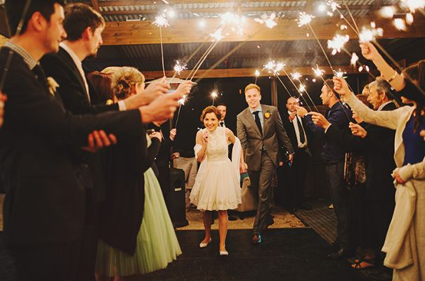 Weddings We Love Sparklers Baker Boys Band For ALYCE ALEX Featured On HelloMay