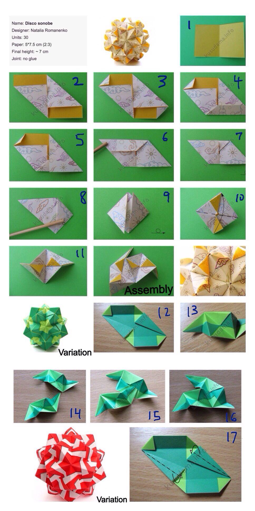 DIY Origami Stern 30 Teile | SONOBE BALL | Origami Entspannung ... | 1936x968