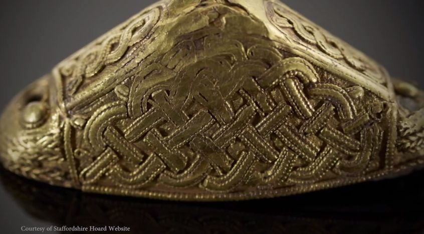"""eadfrith: """"ALL 4000 objects from the incredible Staffordshire Hoard laid out for study. Images from the Staffordshire hoard website The Staffordshire Hoard is the largest hoard of Anglo-Saxon gold..."""