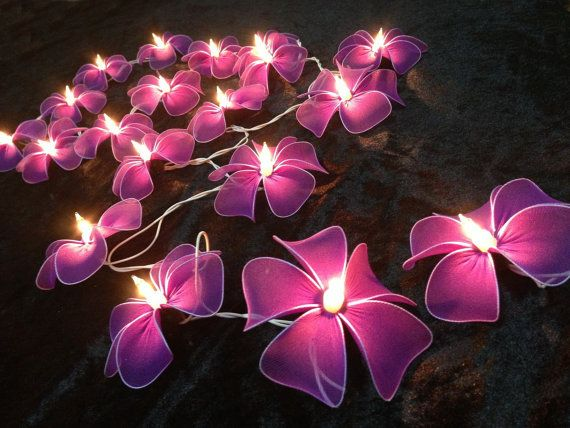 Dark Purple Flower String Lights For Patioweddingparty By Ginew 16 50