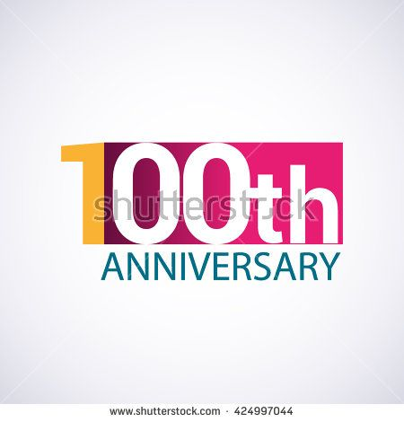 template logo 100th anniversary 100 years anniversary red colored