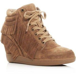 7267c2366772 Ash Beatnik Fringe Hidden Wedge Sneakers
