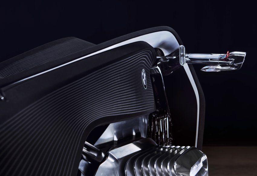 Bei der Studie verändern die beiden markanten Zierzylinder ihre Form: Im...