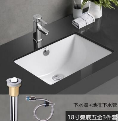 European Stage Pottery And Porcelain Square Embedded Lavabo Basin Toilet Wash Basin Bathroom Fixtures Wash Basin Basin