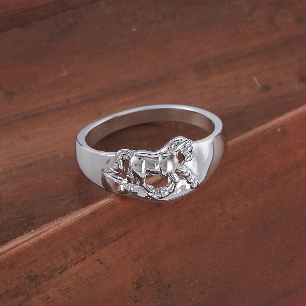 Sterling Silver Trotting Horse Ring Horse ring, Horse