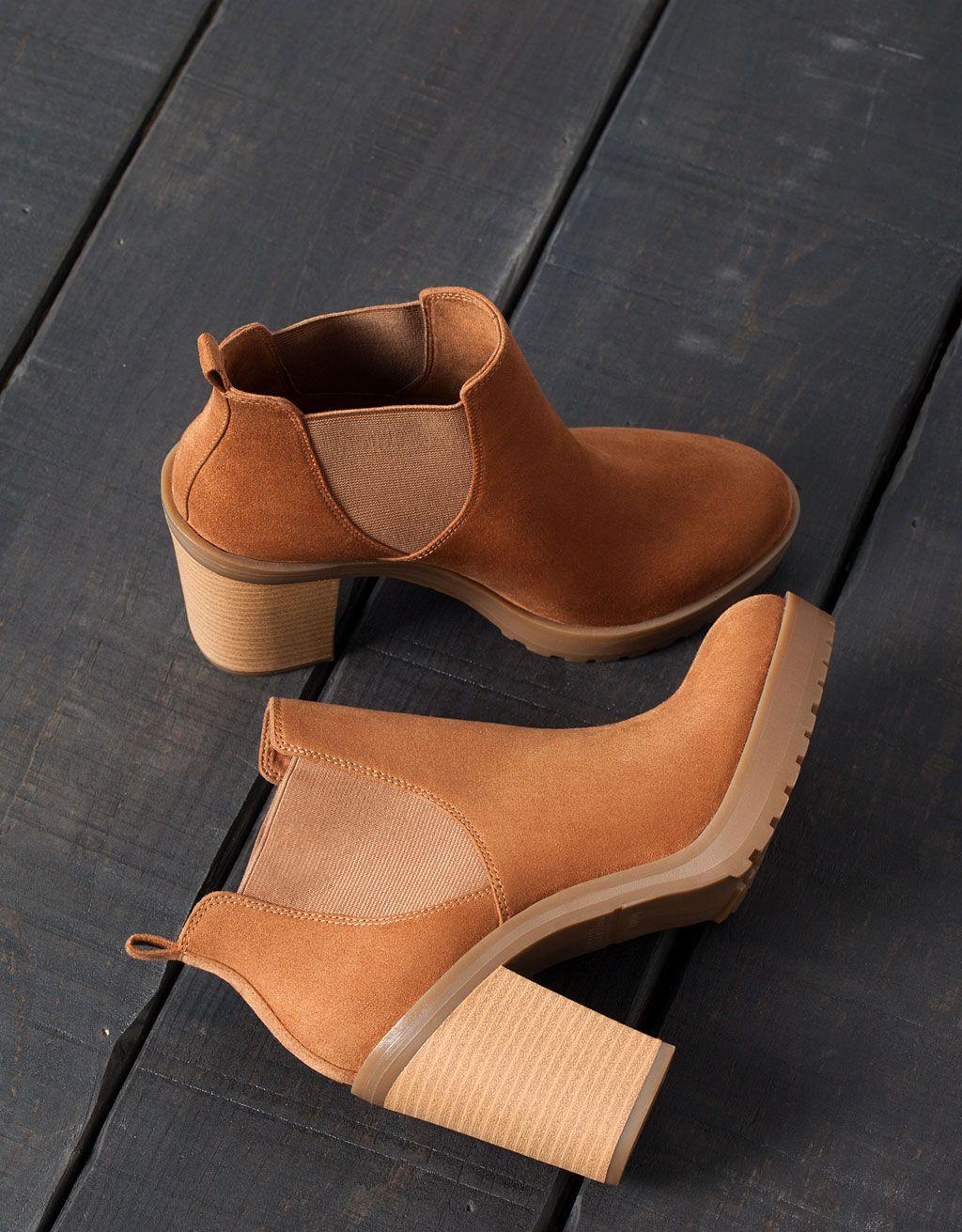 9e3188398 Botín Tacón Elástico - Zapatos - Bershka Colombia | zapatos ...