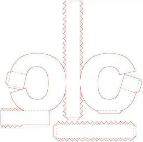 pin von samira oliveira auf papercraft pinterest vorlagen buchstaben und papier. Black Bedroom Furniture Sets. Home Design Ideas