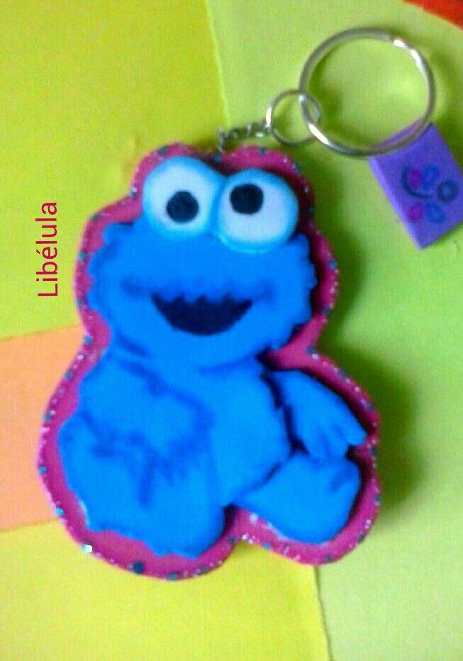 Monstruo come galletas llavero- Cookie monster  56710a59f70