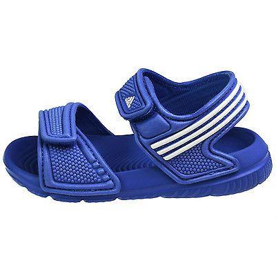 Adidas Akwah 9 Infant B40663 Blue White Strap Sandals Baby Boys Toddler  Size 4