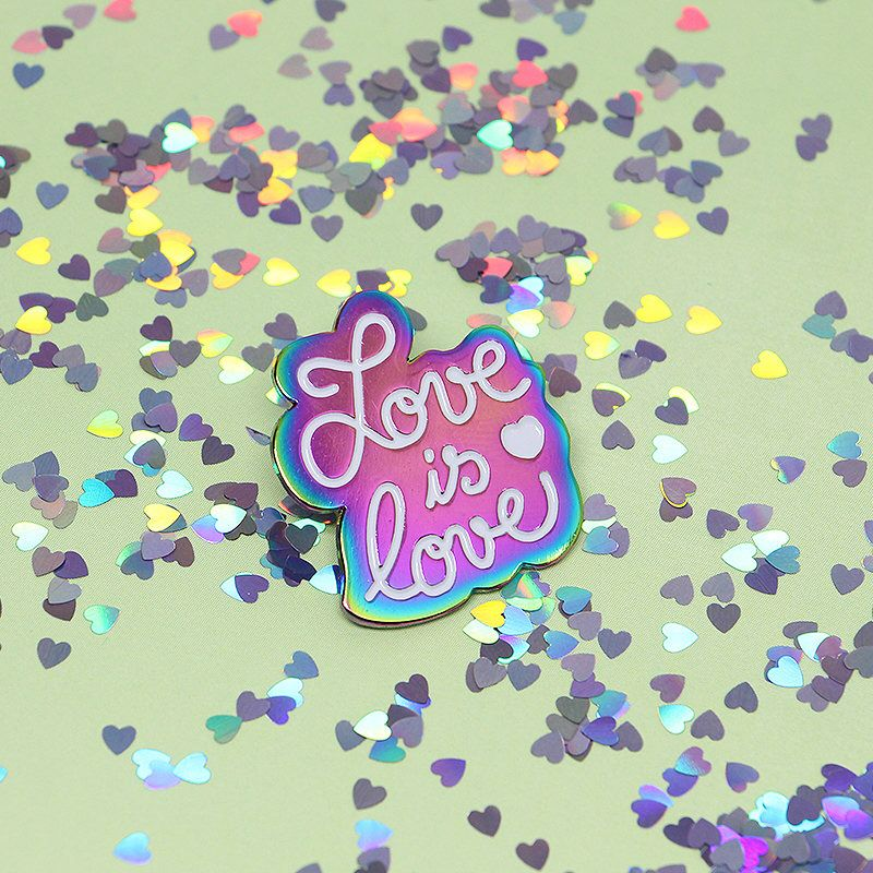 Love Is Love - Rainbow Plated Enamel Pin by EmmaLerouge on Etsy