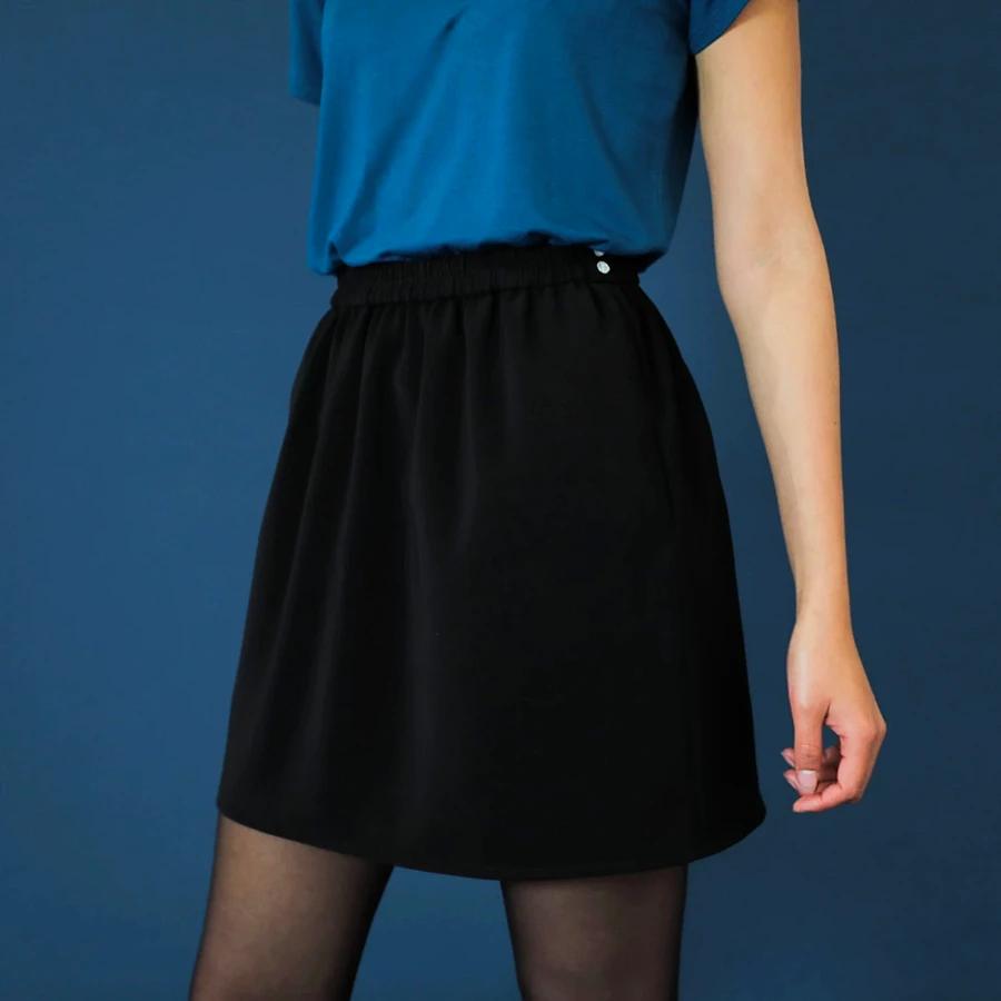Jupe Courte Alexandra Charbon En 2020 Jupe Courte Jupe Jupe Taille Haute