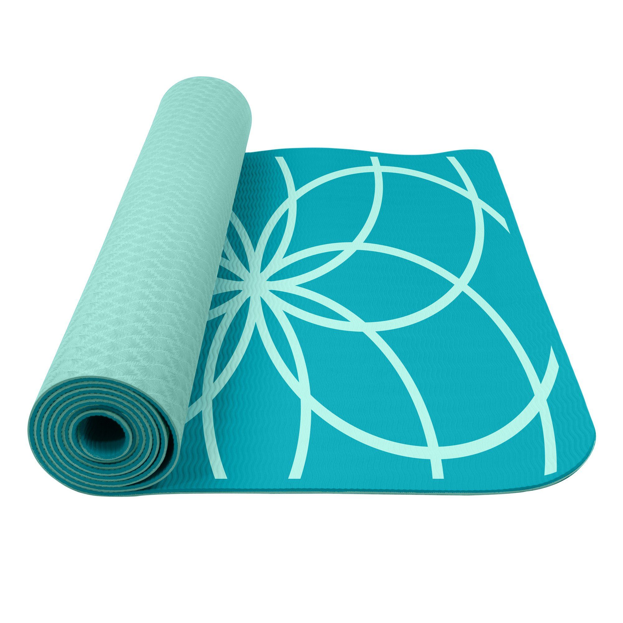 sky blue flexi series mat friendly yoga eco