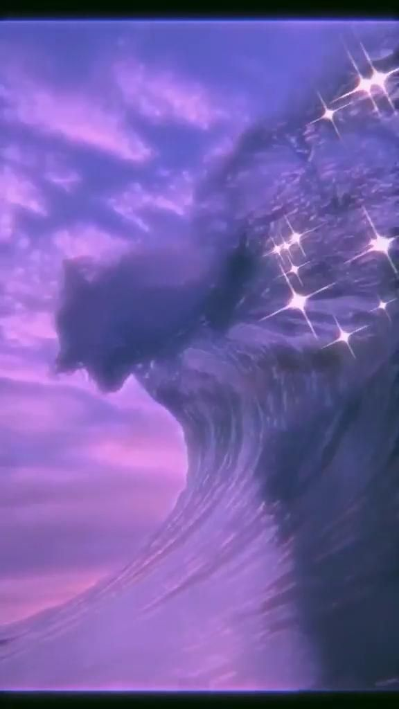 Wave aesthetic 🌊 [Video] | Aesthetic photography nature, Purple aesthetic, Purple aesthetic background