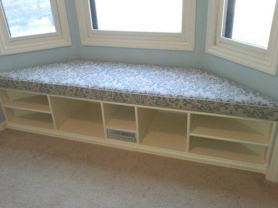 Custom Sewn Bay Window Seat Cushion With Cording Playroom Nursery Bench Chair Pad