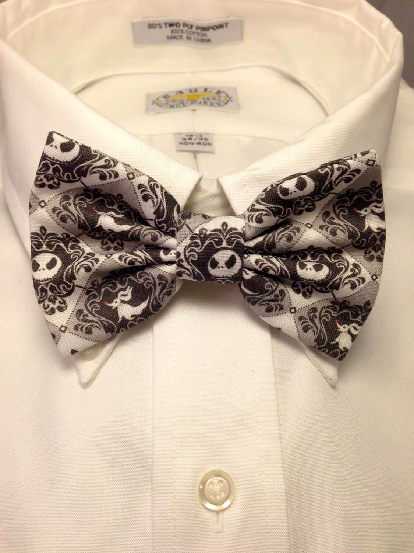 Jack and Zero damask Print Bowtie / Bow Tie | Jack skellington ...