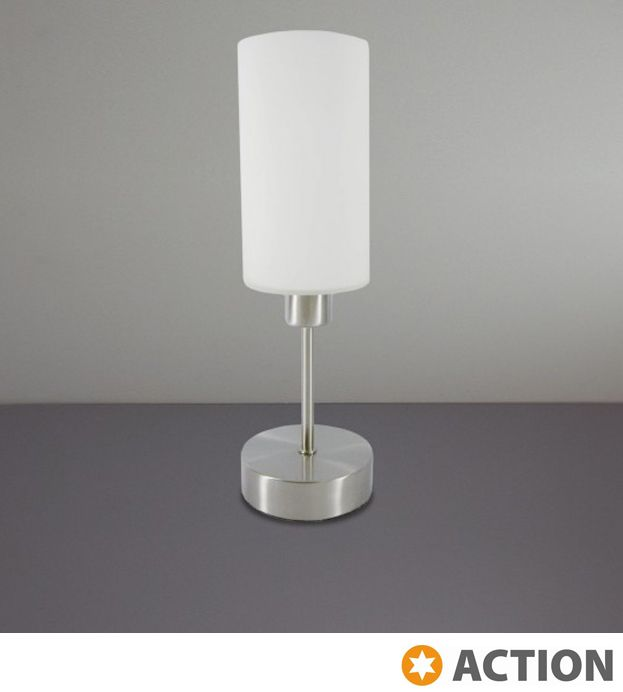 Awesome Action U0027Loftu0027 1 Light 3 Step Touch Dimmable Table Lamp, Matt Nickel
