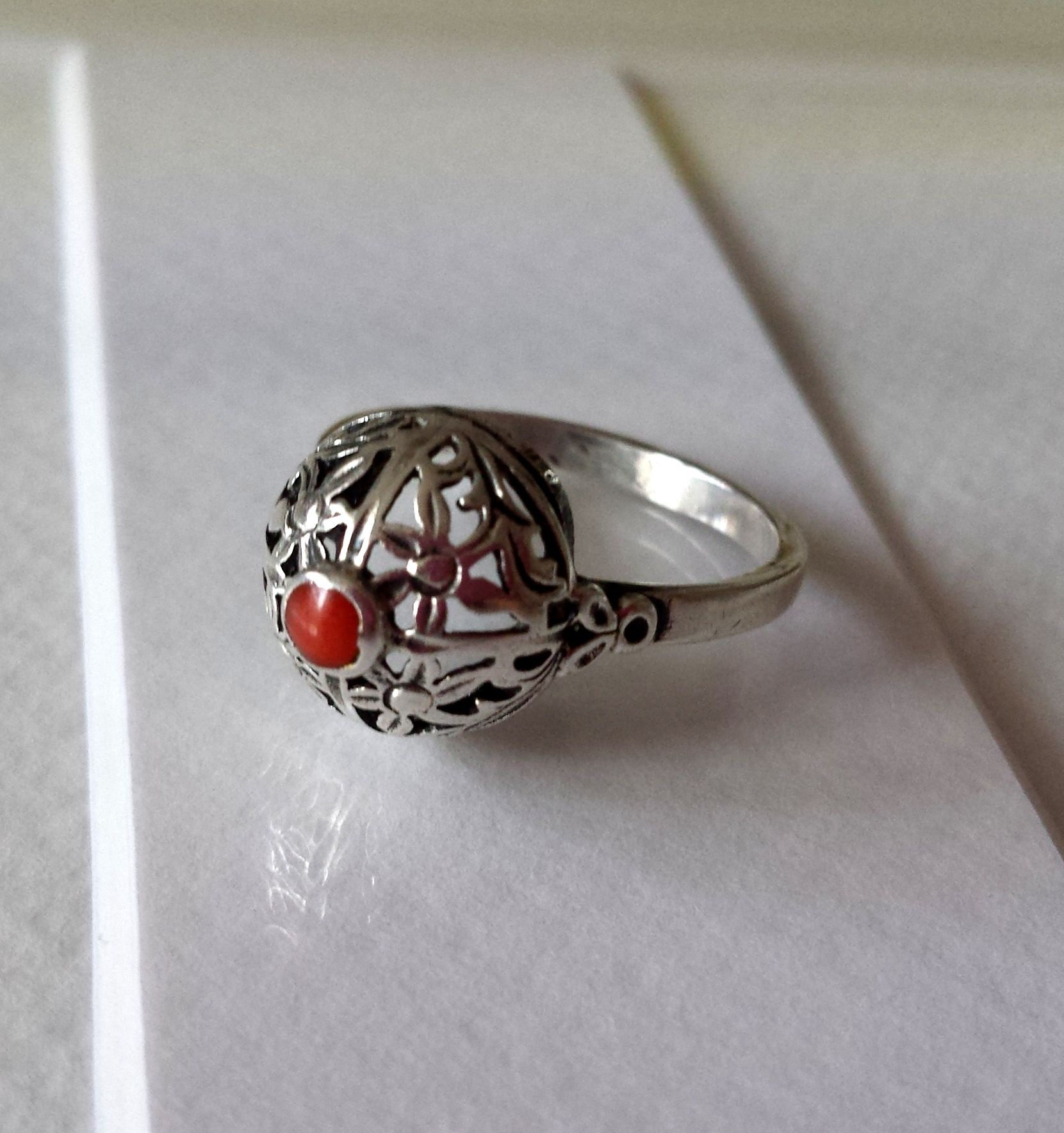 Pierscionek Warmet Vintage Lata 60 Srebro Koral 7173710264 Oficjalne Archiwum Allegro Jewelry Design Polish Jewelry Silver Jewerly