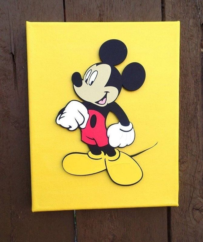 Mickey mouse, Mickey mouse canvas, Mickey mouse Decor, Mickey mouse ...