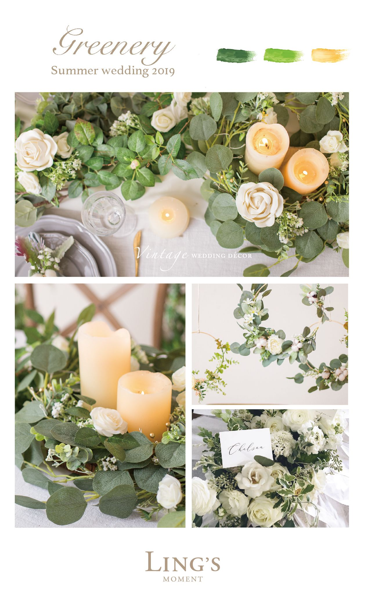 greenery for wedding, home decor! 50 types leaves 30% off, code